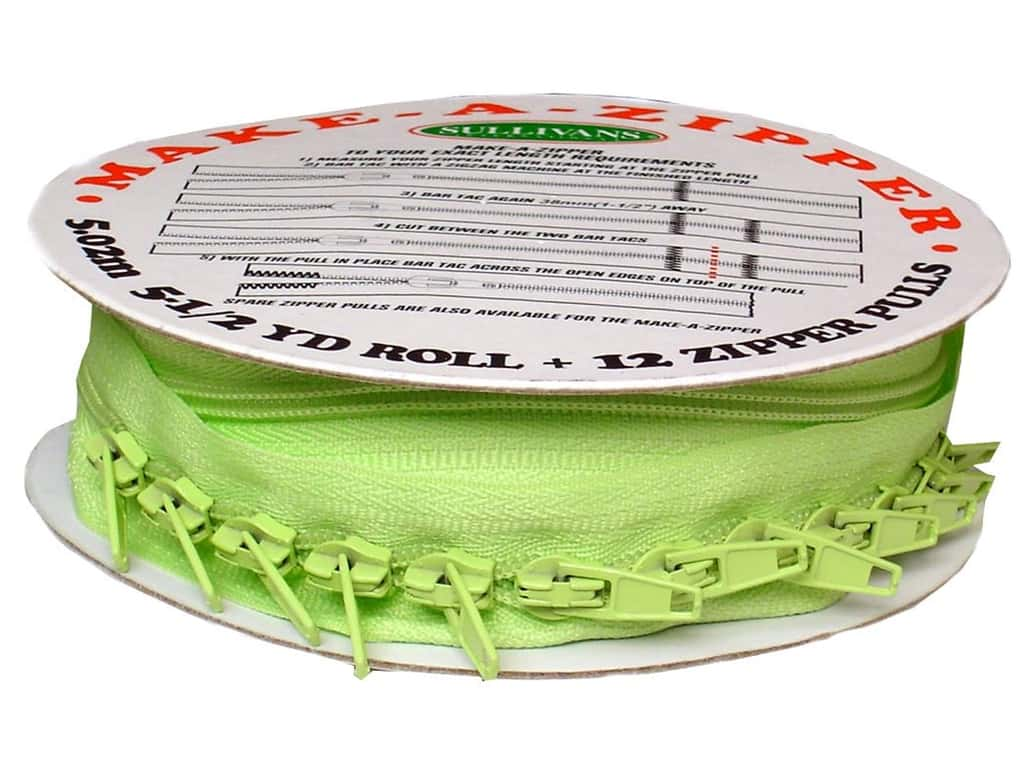 Sullivans Make-A-Zipper Kit 5 1/2 yd. Green