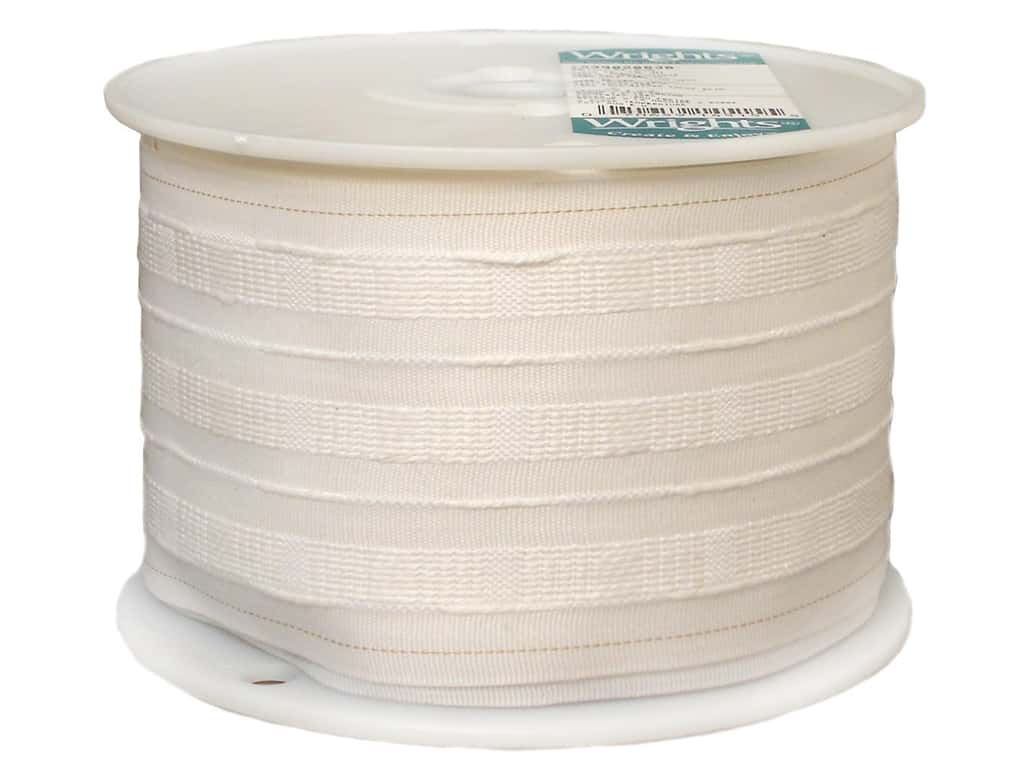 Wrights Pencil Pleat Tape 4 in. White 20 yd (20 yards)