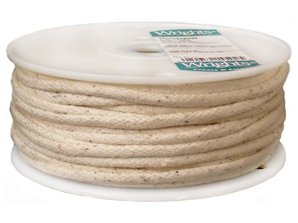 Wrights Cotton Piping Cord 1/4 in. x 50 yd. Natural (50 yards)