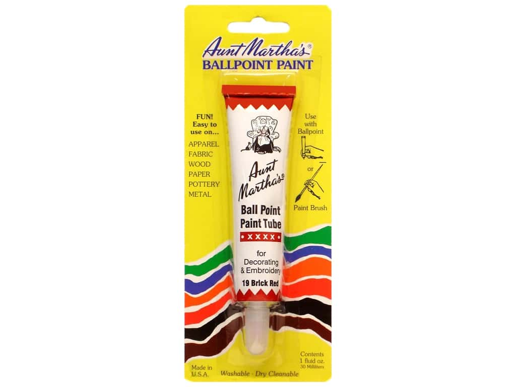 Aunt Martha's Ballpoint Paint Tube - Brick 1 oz.