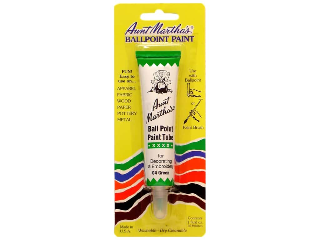 Aunt Martha's Ballpoint Paint Tube - Green 1 oz.