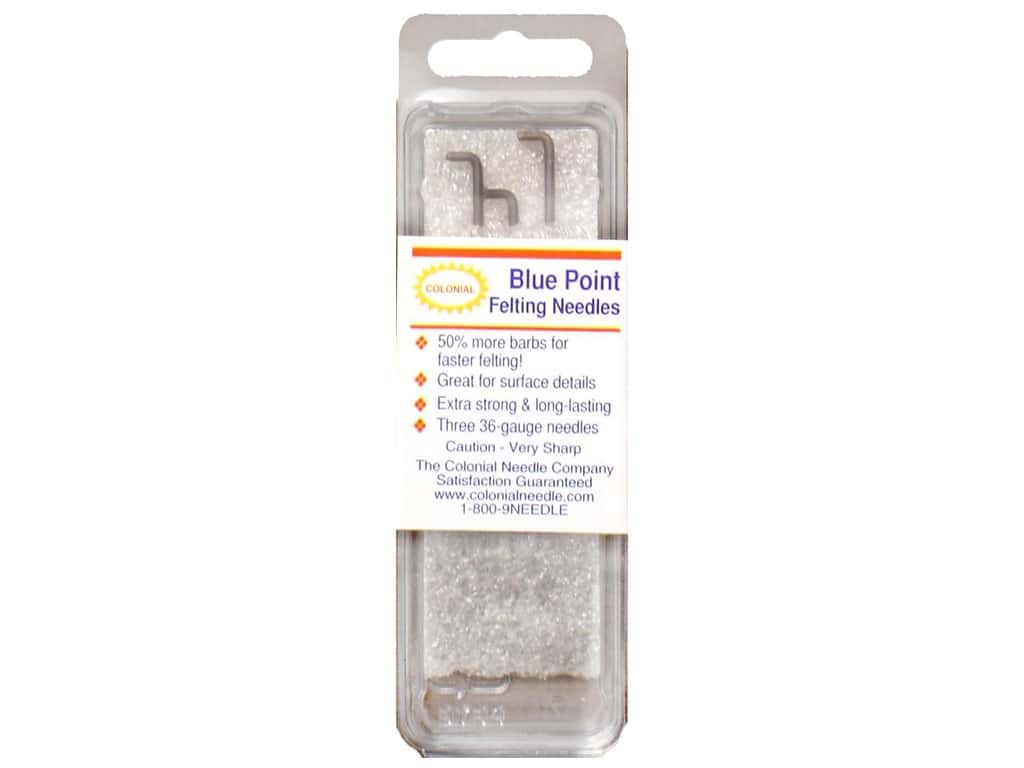 Colonial Needle Blue Point Felting Needles 3 pc.