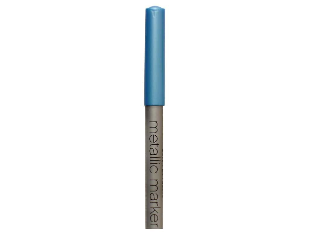 American Crafts Metallic Marker Broad Tip Blue