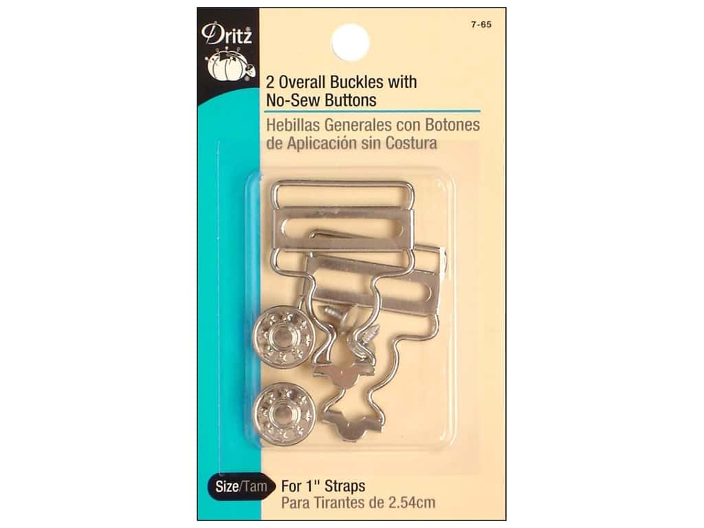 Overall Buckles With No Sew Buttons by Dritz 1 in. Nickel