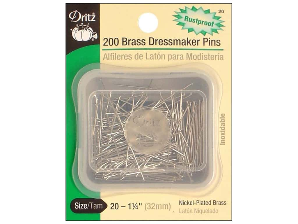 Dressmaker Pins by Dritz Size 20 200 pc.