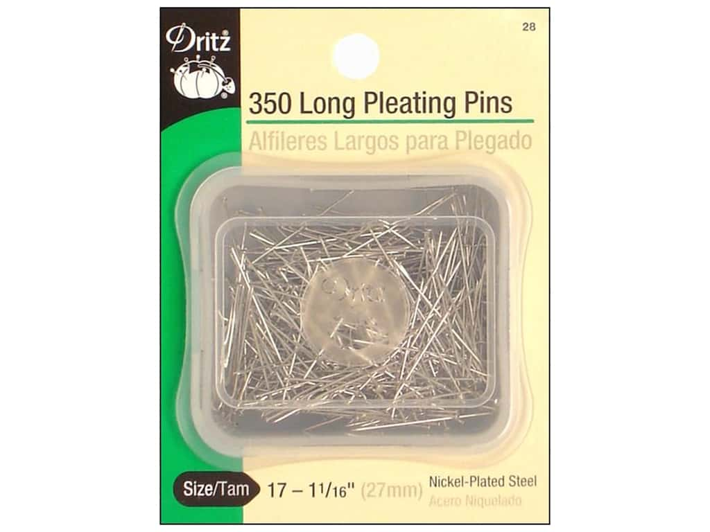 Pleating Pins-Long by Dritz Size 17 350 pc.