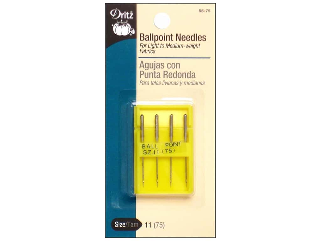 Dritz Ballpoint Machine Needles - 11/75 4 pc.
