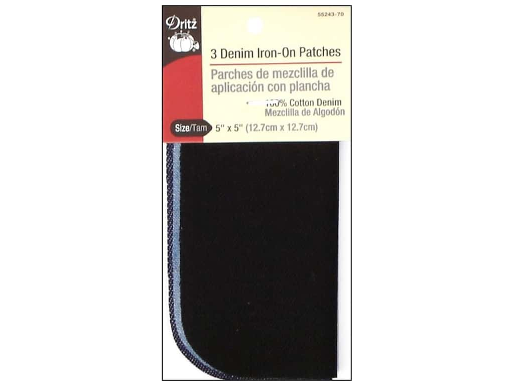 Dritz Denim Iron-On Patches - Assorted 3 pc.