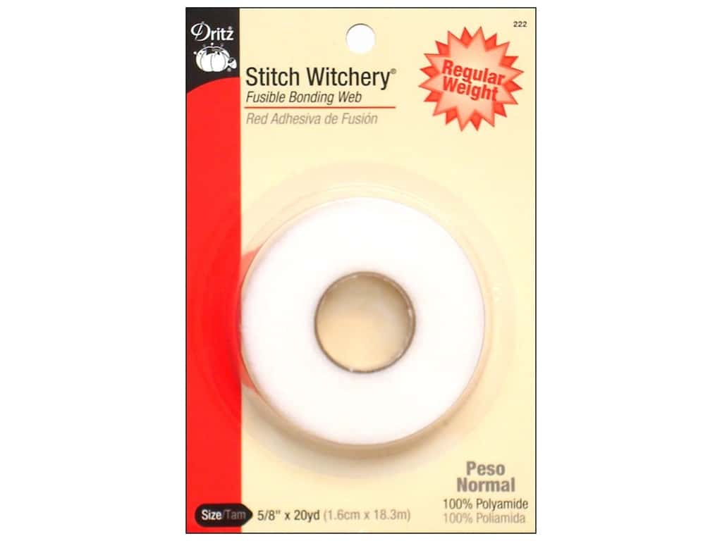 Dritz Stitch Witchery Fusible Bonding Web Regular 5/8 in. x 20 yd.