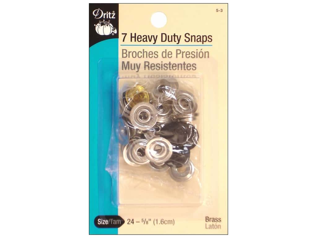 Dritz Heavy Duty Snaps Size 24 7 pc. Black