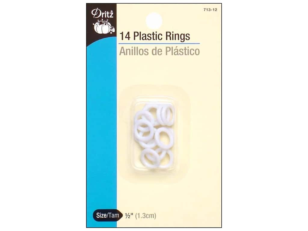 Plastic Rings by Dritz 1/2 in.14pc.