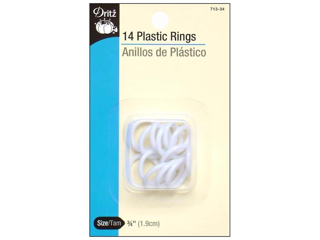 Plastic Rings by Dritz 3/4 in. 14pc.