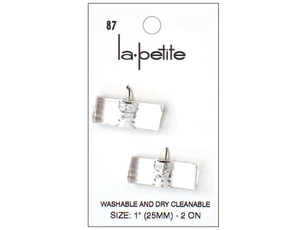 LaPetite Shank Buttons 1 in. Crystal Toggle #87 2 pc.
