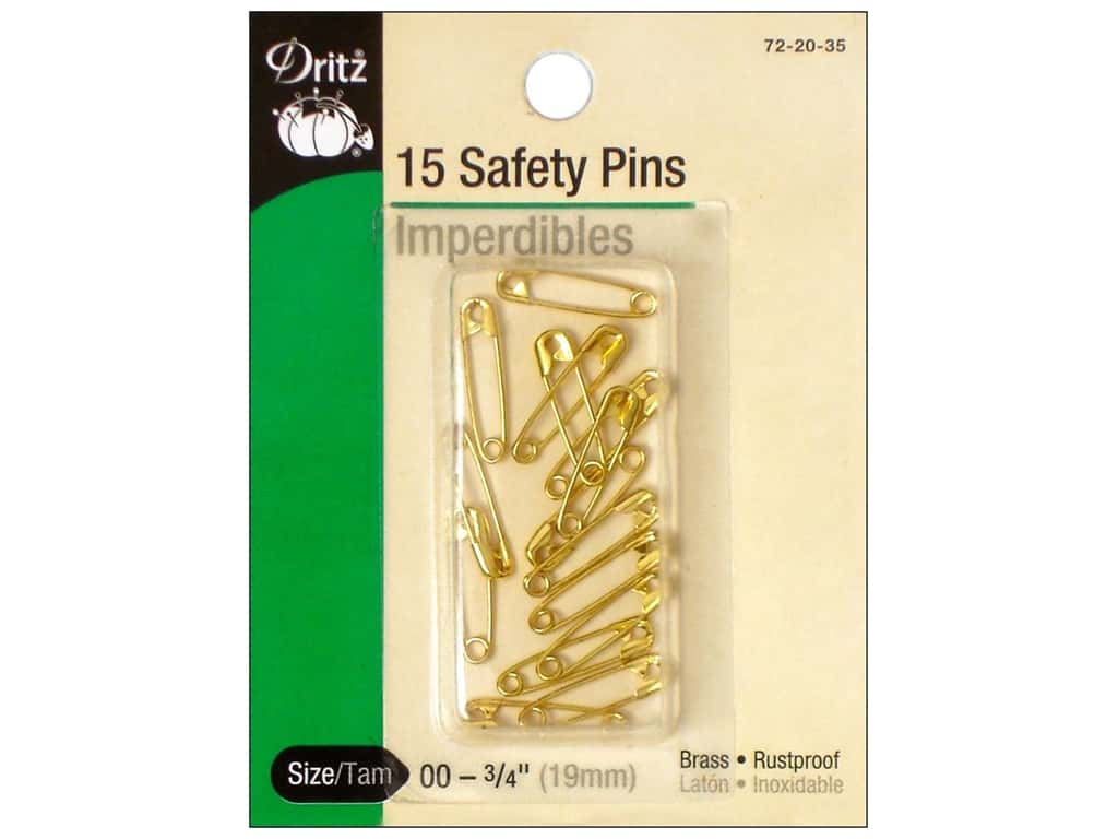 Safety Pins by Dritz 3/4 in. Brass 15pc.