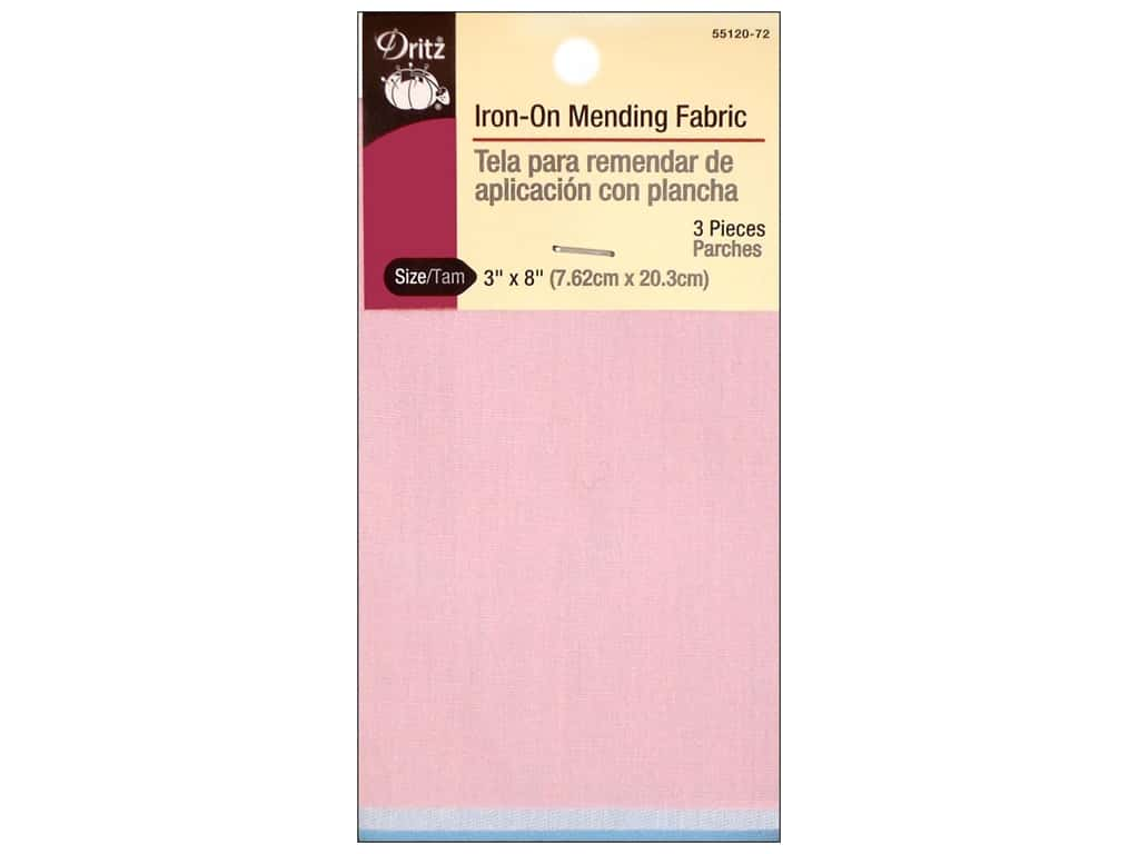 Dritz Iron-On Mending Fabric - 3 x 8 in. Light Assorted 3 pc.