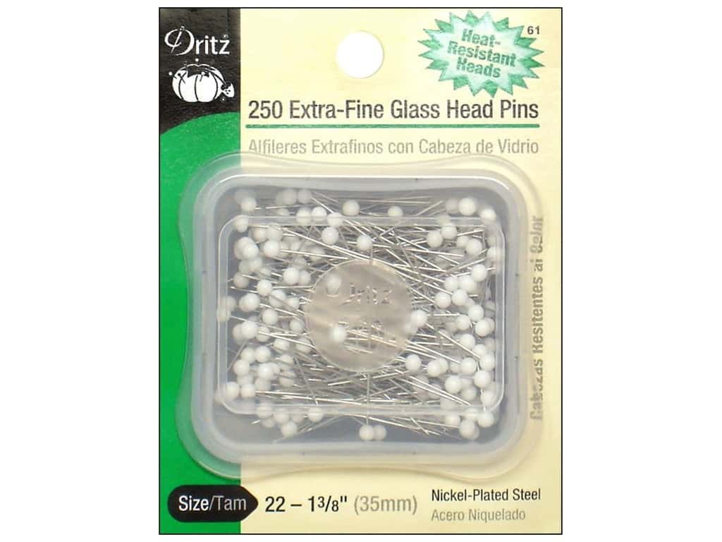 Extra Fine Glasshead Pins by Dritz Size 22 250pc.