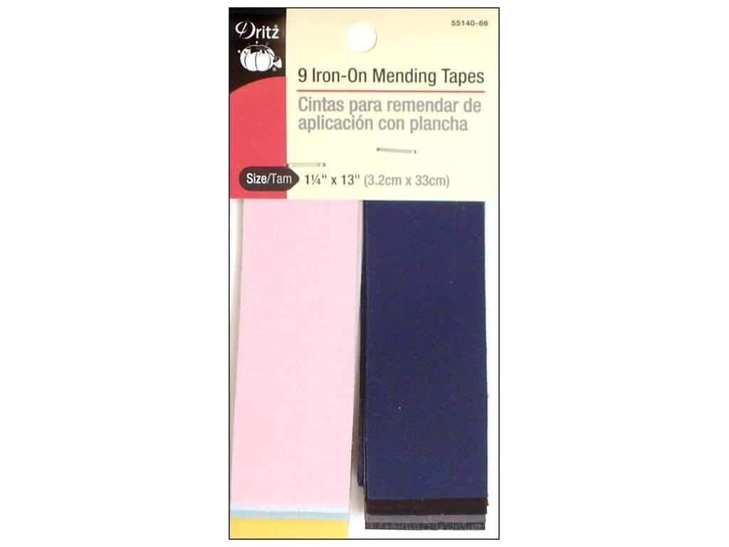 Dritz Iron-On Mending Tape - 1 1/4 x 13 in. Assorted 9 pc.