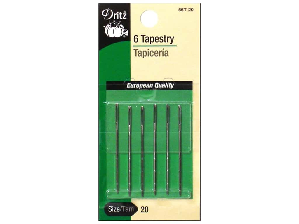 Dritz Tapestry Needles Size 20 6 pc.