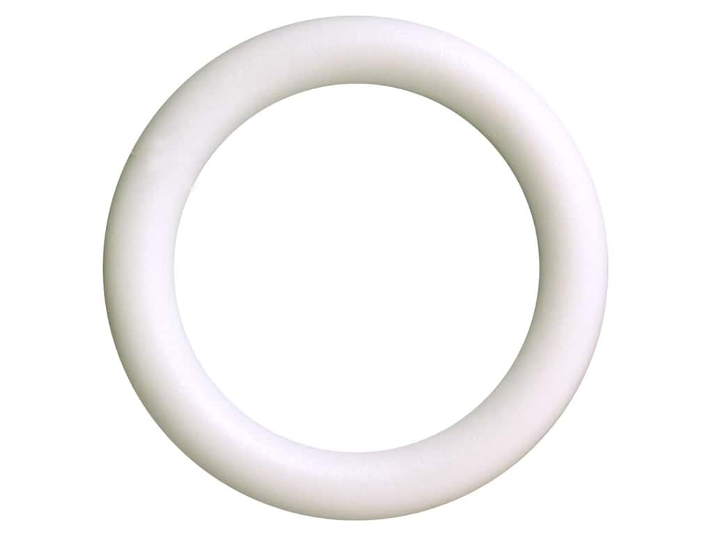 FloraCraft Extruded Styrofoam Wreath 12 x 1 3/4 in. 1 pc.