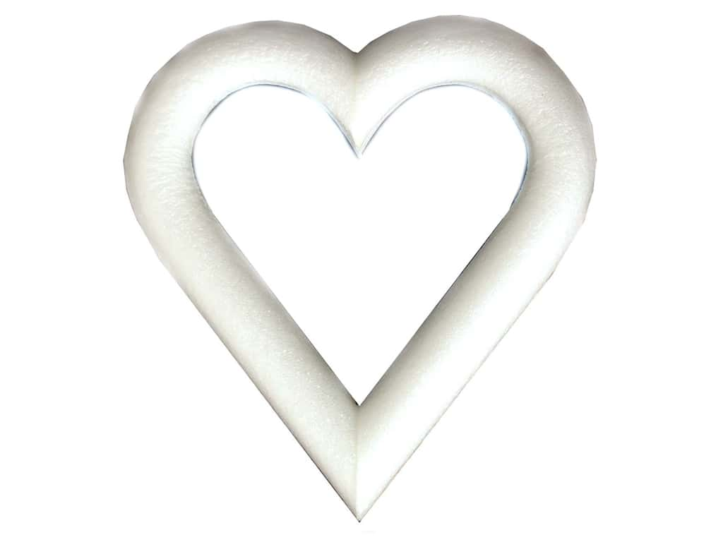 FloraCraft Extruded Styrofoam Heart 9 x 1 in. 1 pc.
