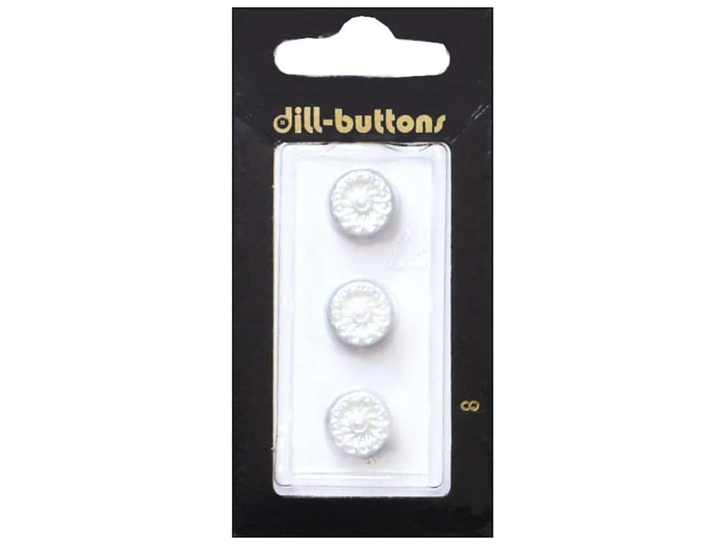 Dill Shank Buttons 7/16 in. Pearl White #8 3 pc.