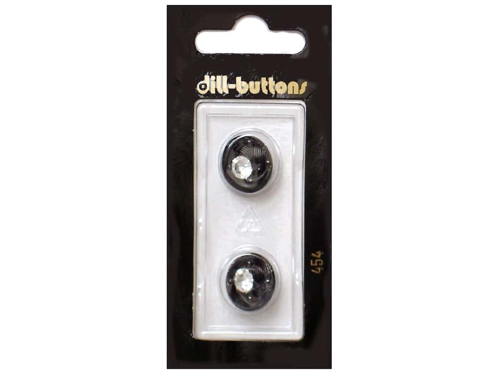Dill Shank Buttons 5/8 in. Black #454 2 pc.