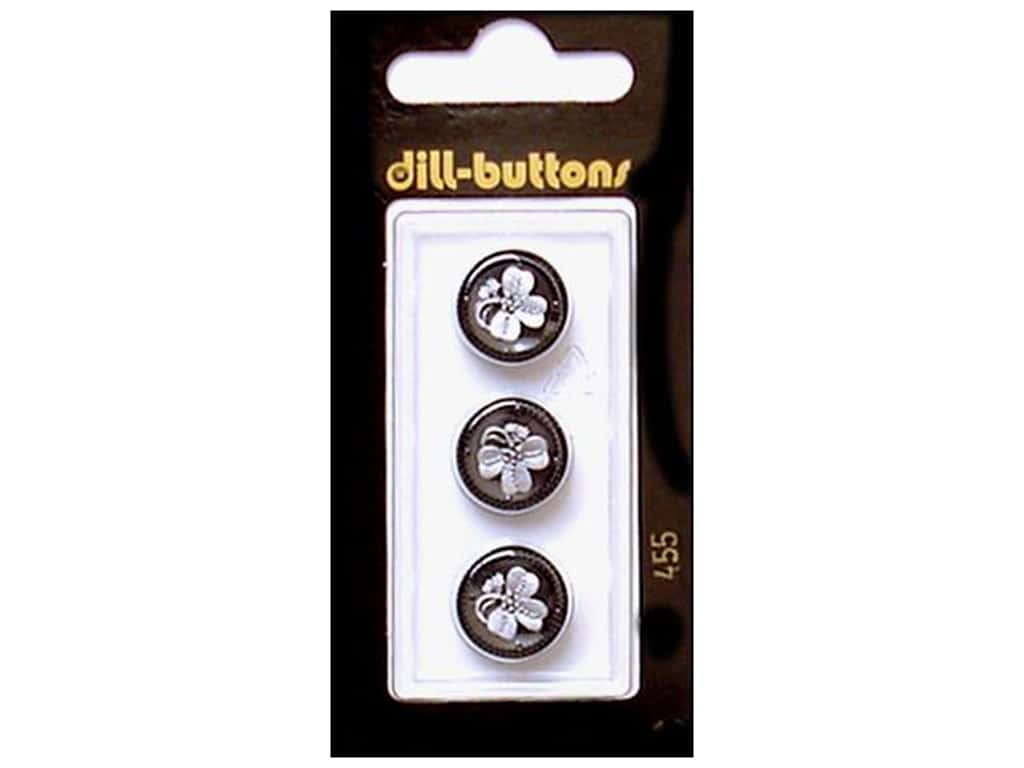 Dill Shank Buttons 9/16 in. Black #455 3 pc.
