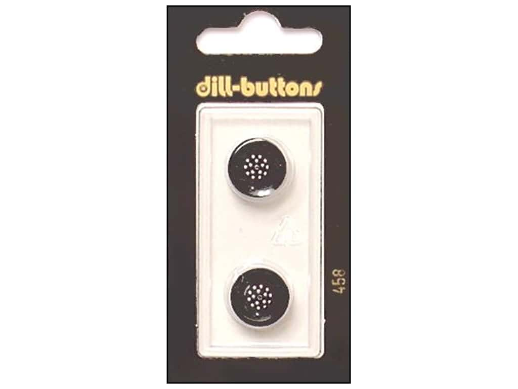 Dill Shank Buttons 9/16 in. Black #458 2 pc.