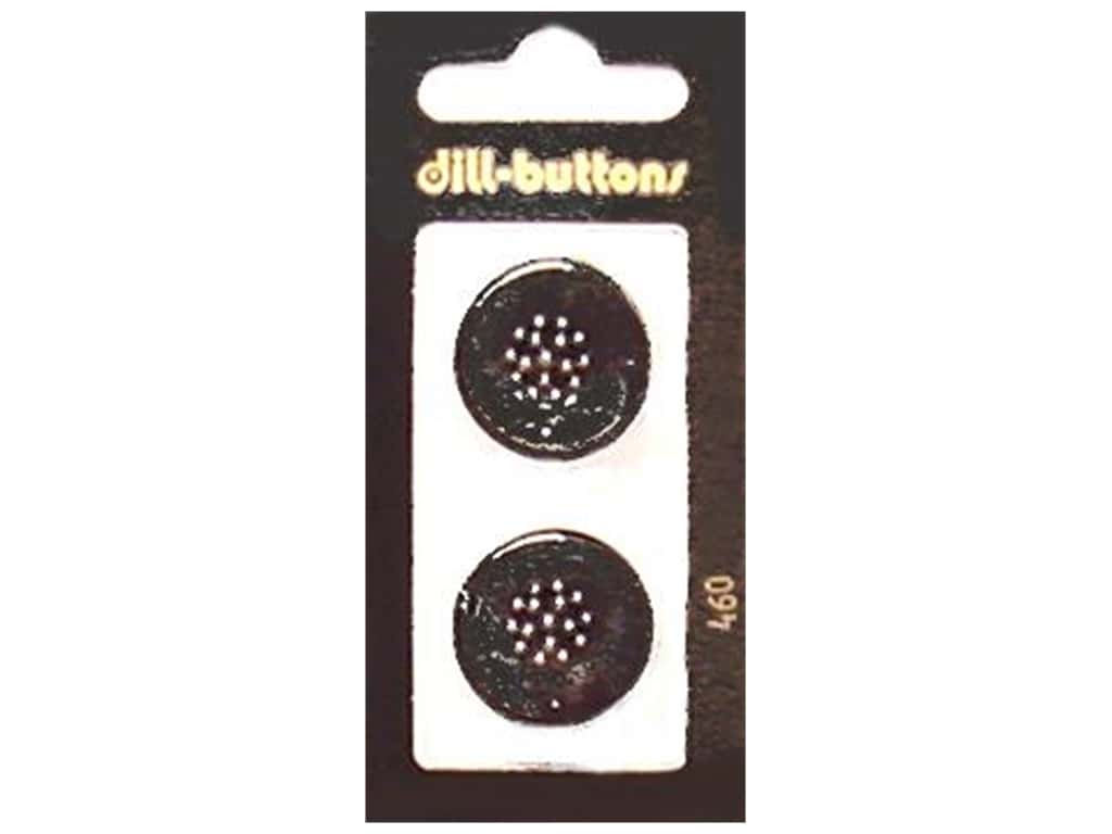 Dill Shank Buttons 7/8 in. Black #460 2 pc.