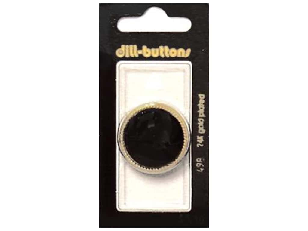 Dill Shank Buttons 1 1/8 in. Black #498 1 pc.