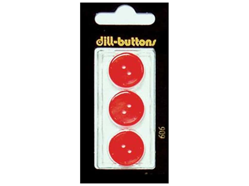 Dill 2 Hole Buttons 11/16 in. Red #606 3 pc.