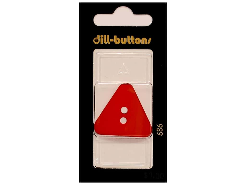 Dill 2 Hole Buttons 1 1/4 in. Red #686 1 pc.