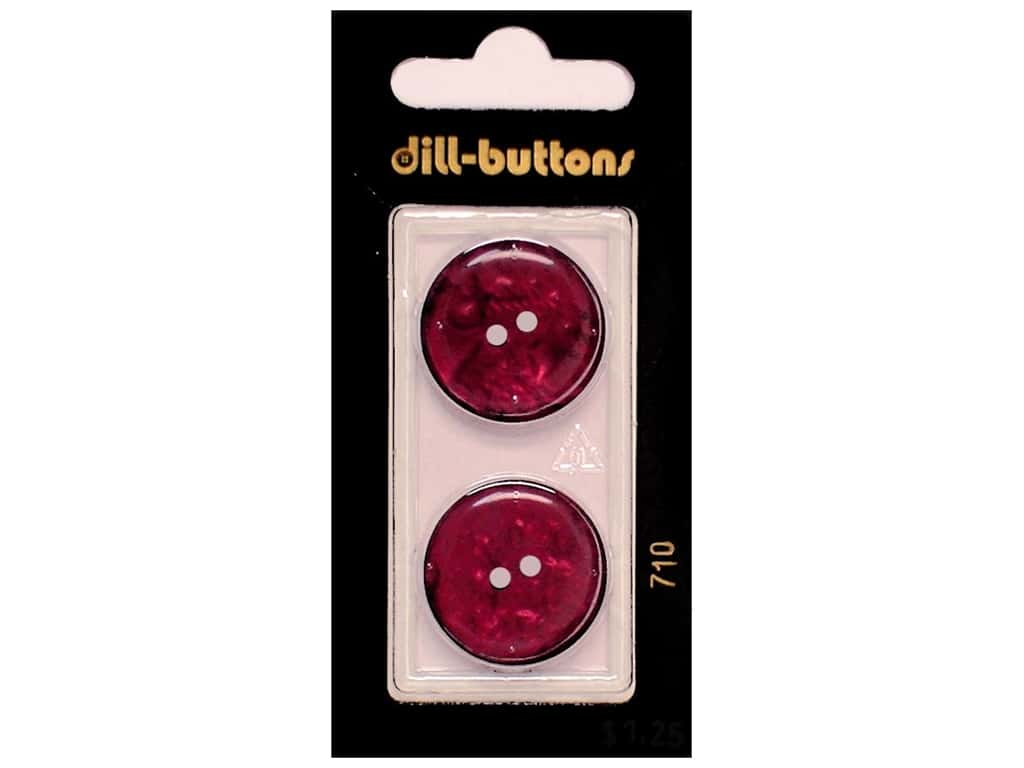 Dill 2 Hole Buttons 7/8 in. Wine Red #710 2 pc.