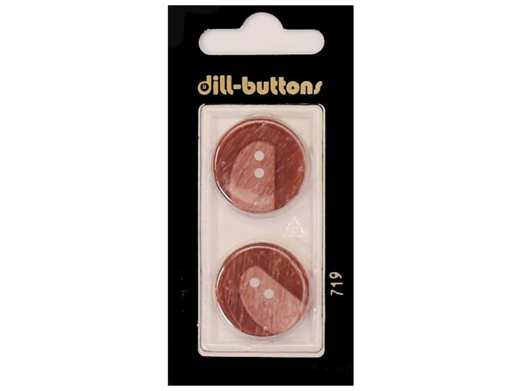 Dill 2 Hole Buttons 7/8 in. Wine Red #719 2 pc.