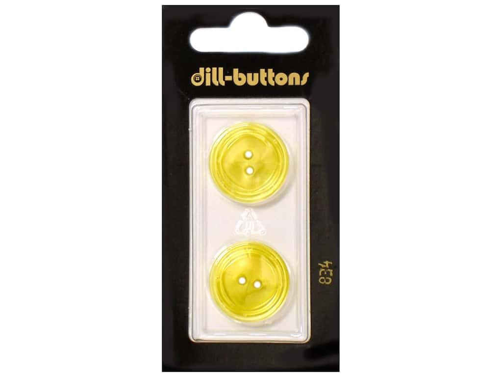 Dill 2 Hole Buttons 13/16 in. Yellow #834 2 pc.