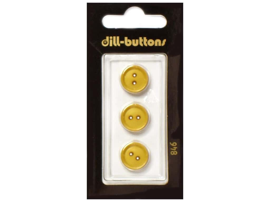 Dill 2 Hole Buttons 11/16 in.Yellow #846 2pc.