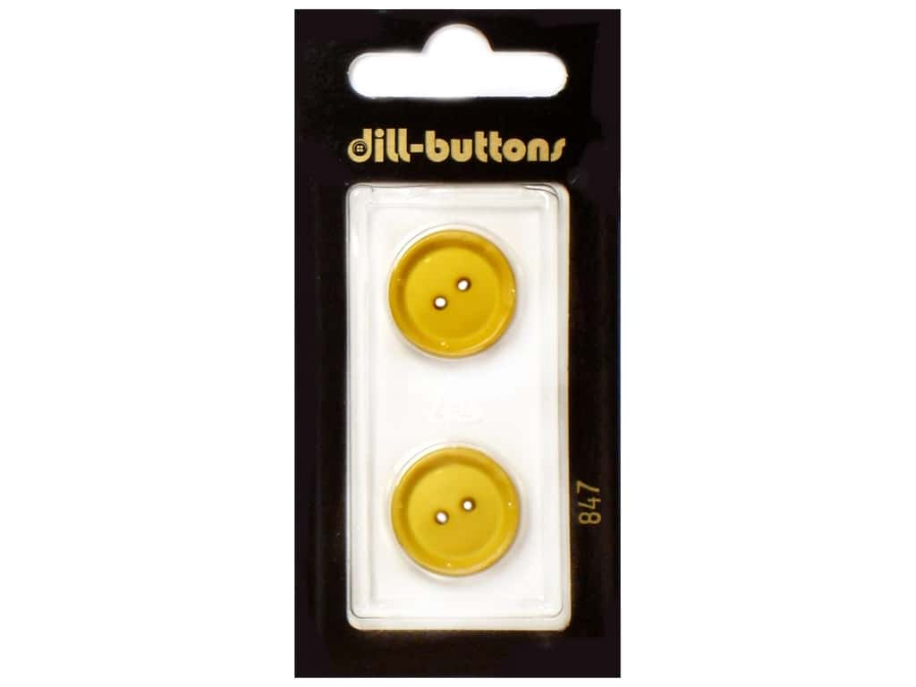 Dill 2 Hole Buttons 1/2 in. Yellow #847 3 pc.