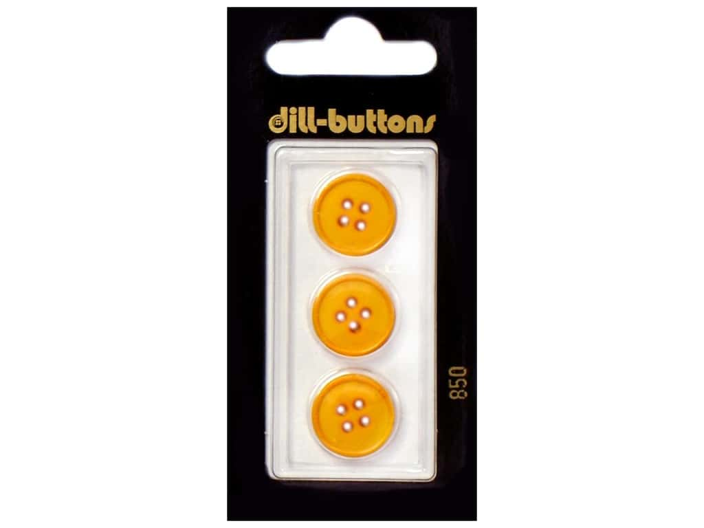 Dill 4 Hole Buttons 5/8 in. Yellow #850 3 pc.