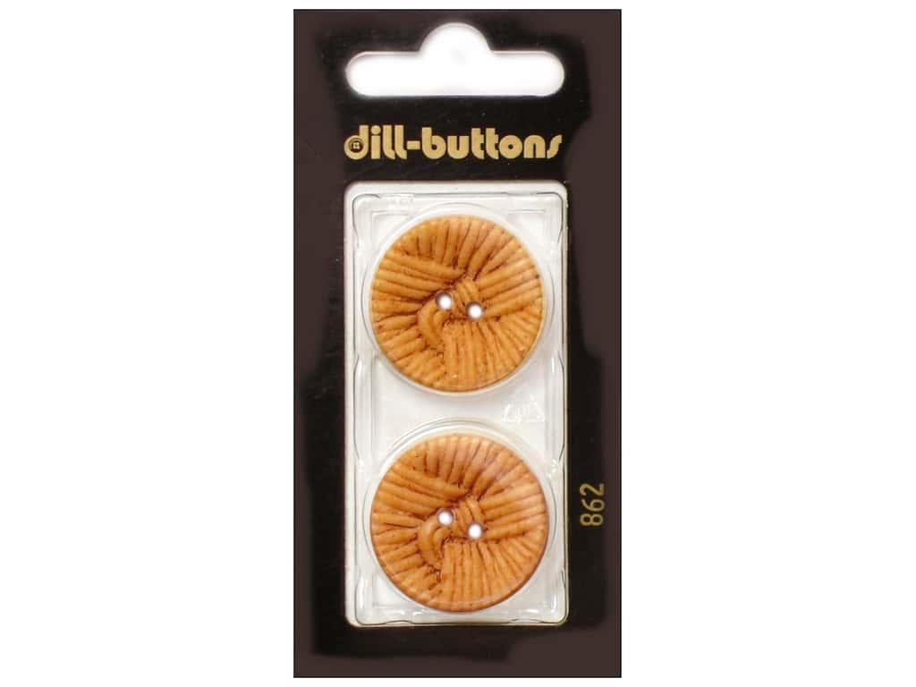 Dill 2 Hole Buttons 1 in. Brown #862 2 pc.