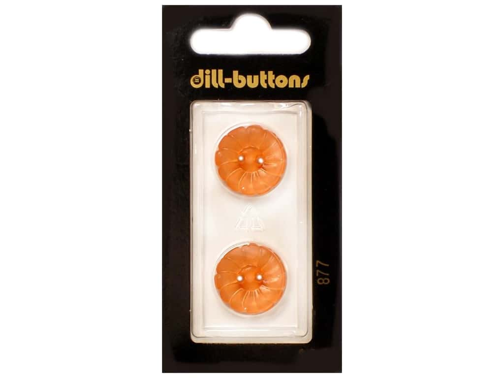 Dill 2 Hole Buttons 11/16 in. Orange #877 2 pc.