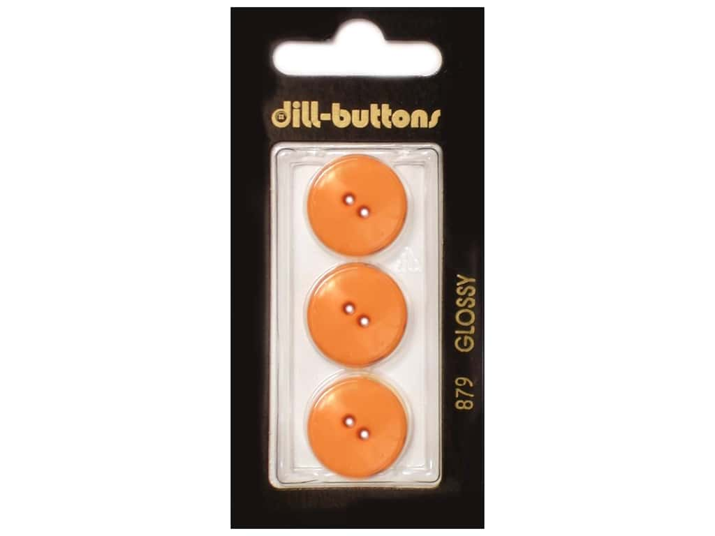 Dill 2 Hole Buttons 11/16 in. Orange #879 3 pc.