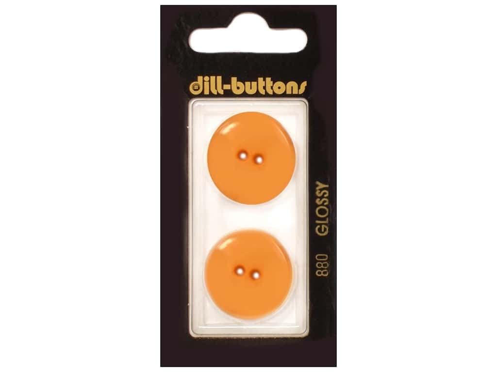 Dill 2 Hole Buttons 7/8 in. Orange #880 2 pc.