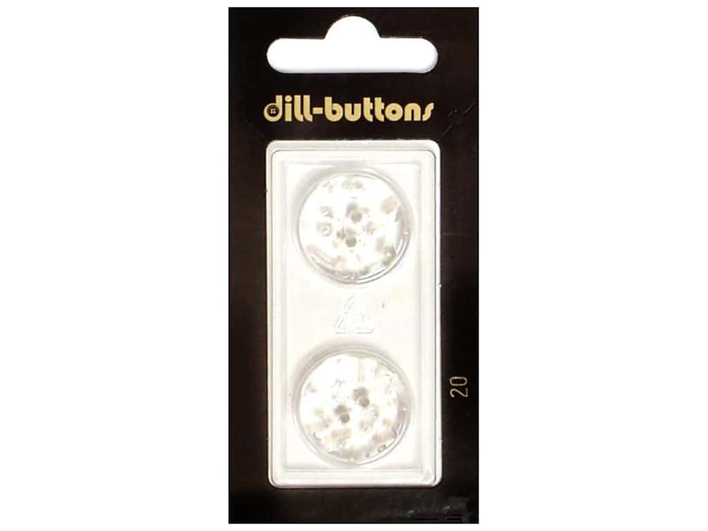 Dill 2 Hole Buttons 13/16 in. Transparent #20 2 pc.