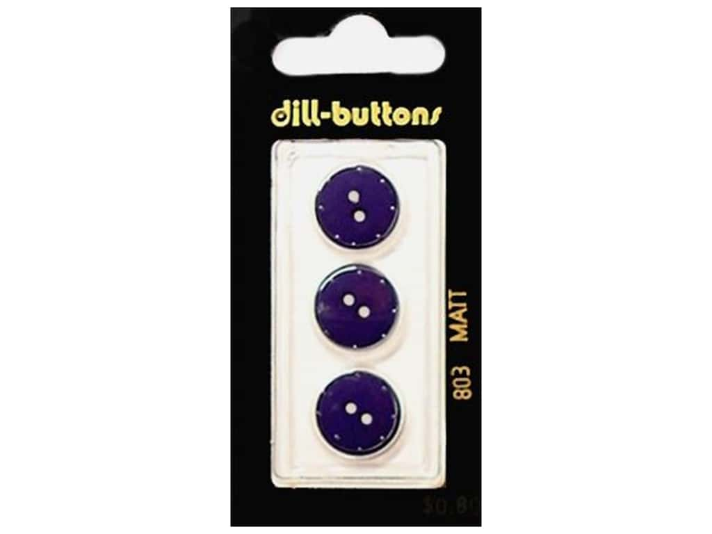 Dill 2 Hole Buttons 5/8 in. Navy #803 3 pc.