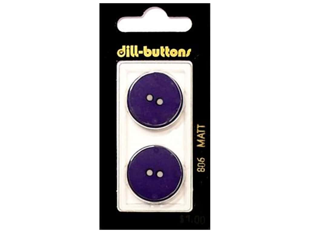 Dill 2 Hole Buttons 7/8 in. Purple #806 2 pc.