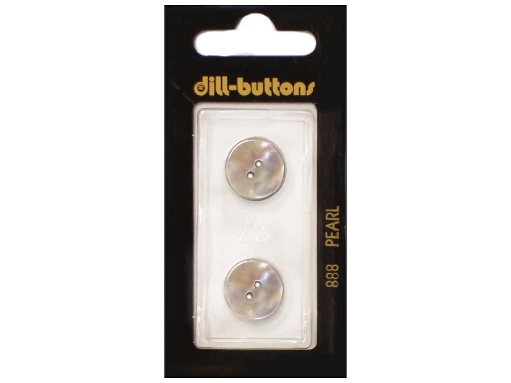 Dill 2 Hole Buttons 5/8 in. Mother of Pearl Beige #888 2 pc.