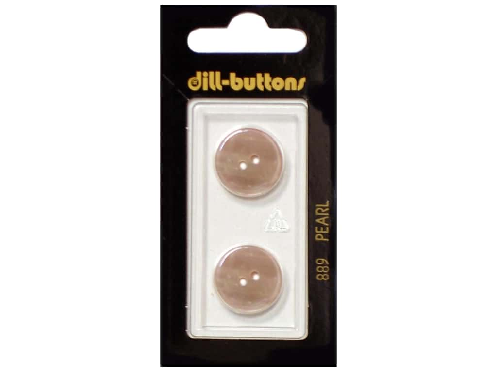 Dill 2 Hole Buttons 11/16 in. Beige Mother of Pearl #889 2 pc.