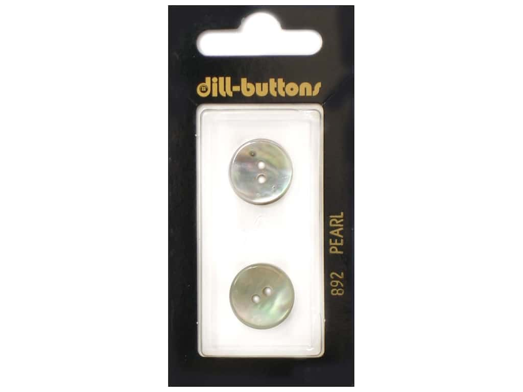 Dill 2 Hole Buttons 5/8 in. White Mother of Pearl #892 2 pc.