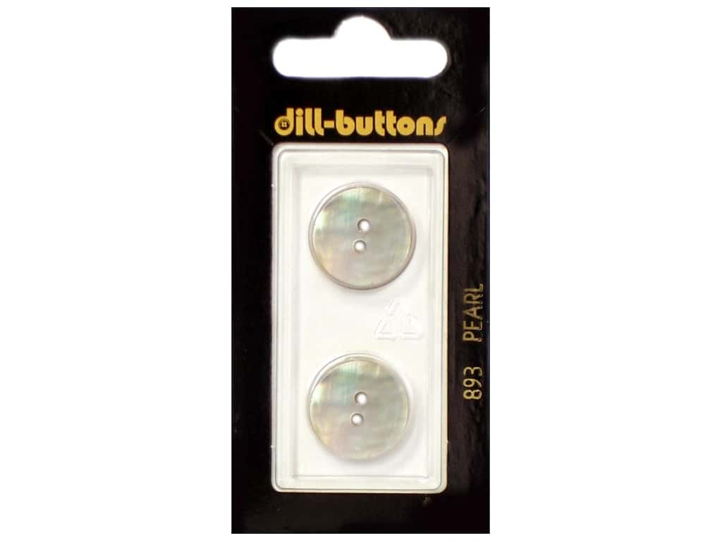 Dill 2 Hole Buttons 11/16 in. Mother of Pearl White #893 2 pc.