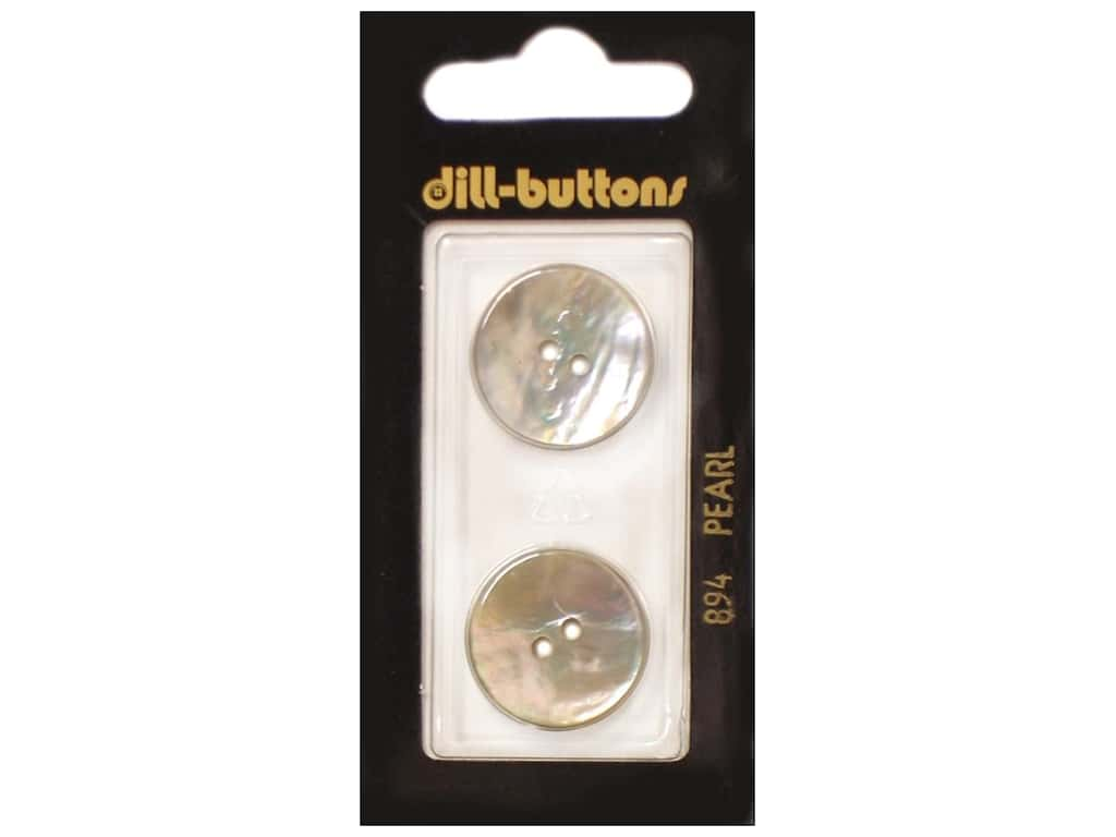 Dill 2 Hole Buttons 13/16 in. White Mother of Pearl #894 2 pc.